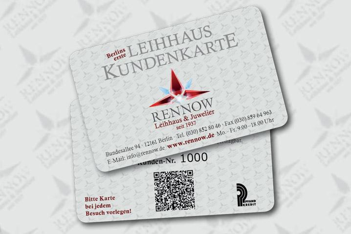 Pfandleihhaus Berlin - Kundenkarte
