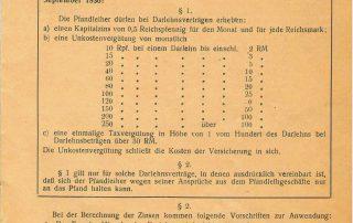 Pfandleihgesetz Gebühren 1936