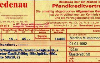 Pfandschein 1999