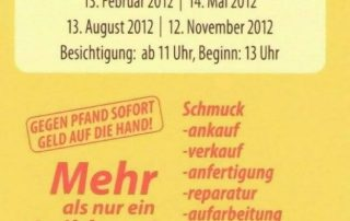 Visitenkarte Rückseite Leihhaus Friedenau